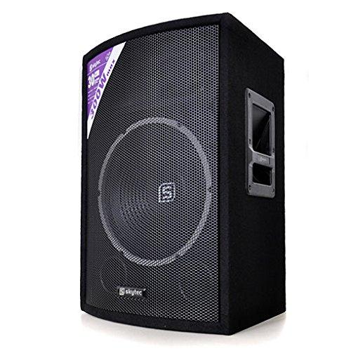Skytec SL12 • Passiv-Box • Monitor • Lautsprecher • 300 Watt max. • 30 cm Tieftöner • Piezo Horn Hochtöner • Stativ-Flansch • schwarz