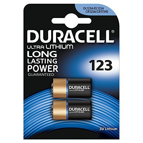 Duracell Specialty Type 123 Ultra Lithium Photo Battery pack of 2
