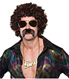 amscan - 842255-55 - Set Perruque Et Moustache Disco