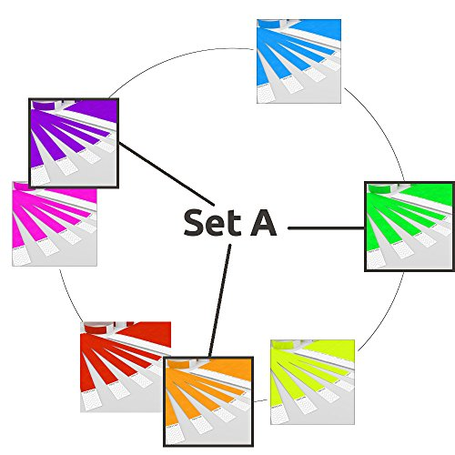 GA Event Solutions Einlassband Farbmix Set A: Orange – Lila – Grün, 700 Bänder mit PREISVORTEIL aus Tyvek