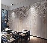 HONGYAUNZHANG Weiße Holz Blume Benutzerdefinierte Fototapete 3D Stereoskopischen Wandbild Wohnzimmer Schlafzimmer Sofa Hintergrund Wandmalereien,200Cm (H) X 280Cm (W)