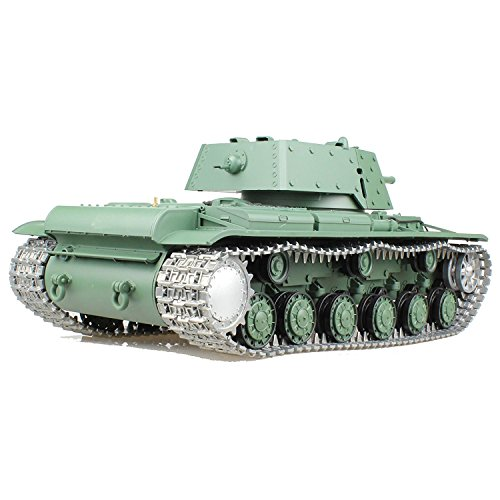 Ferngesteuert Heng Long RC Panzer KV 1 - Metall Tracks Metall Gear Box (Rc Airsoft Tank)