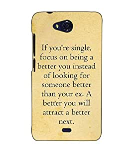 Fuson Designer Back Case Cover for Micromax Canvas Play Q355 (If you are single focus on )