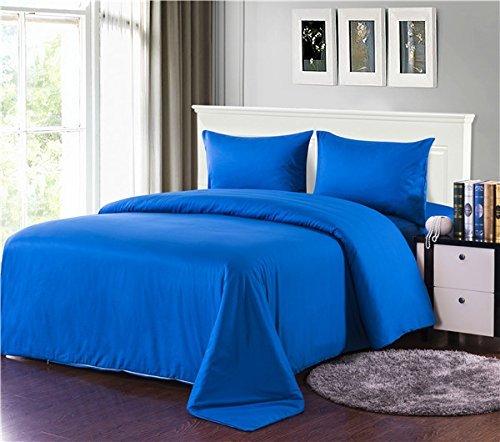 Tache 100% Baumwolle Solid Blau Tröster Set mit Reißverschluss, baumwolle, blau, Volle Größe