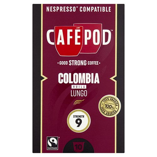 Shop for CafePod Columbia Pack Of 10 Nespresso Compatible Coffee Capsules from CafePod