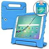 Samsung Galaxy Tab S2 9.7 Cover per Bambini, COOPER DYNAMO Custodia Protettiva in Plastica Flessibile ed Elastica che si Pulisce Facilmente, Materiali non Tossici e Rispettosi dell'ambiente, Massima Protezione da Urti e Cadute, Pellicola Protettiva Inclusa, Azzurro