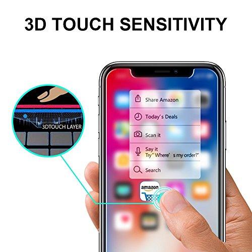 SPARIN [3 Pezzi] Vetro Temperato Compatibile con iPhone XS/iPhone X, Pellicola Vetro Temperato con [Strumento per Una Facile Installazione]