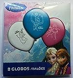8 Luftballons * FROZEN - DIE EISKÖNIGIN * für den Kindergeburtstag oder Party // mit 75cm Umfang // Luftballon Ballons Deko Motto Kinderparty Anna Elsa Olaf