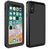 Aursen-iPhone-X-Wasserdichte-Hlle-iPhone-X-Waterproof-Case-IP-68-Stofest-Outdoor-Staubbeweis-Schnee-Proof-Unterwasser-Ganzkrper-Schutzhlle-Cover-fr-iPhone-X-Schwarz