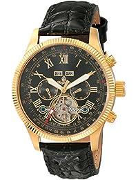 Burgmeister Armbanduhr für Herren mit Analog Anzeige, Automatik-Uhr und Lederarmband - Wasserdichte Herrenuhr mit zeitlosem, schickem Design - klassische Uhr für Männer - BM330-222 Malabo