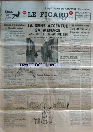FIGARO (LE) [No 3227] du 22/01/1955 - pa...