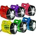 German Trendseller® - 8 x Kinder Mini - LED Taschenlampen bunt sortiert ? inkl. Schlüsselkette ? Sehr gute Leucht-Kraft ? Kinderleichte bedienung ? 8 x bunte Minitaschenlampe ? Nachtwanderung ? Kindergeburtstag ? Mitgebsel