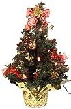 Brauns-Heitmann 87002 Weihnachtsbaum, ca. 45 cm, mit Beleuchtung rot dekoriert
