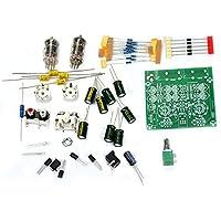 Rokoo Válvula 6J1 DIY Tube Amplificador Preamp AMP Pre-Amplificador Junta Headphone Buffer DIY Kit Material: Plástico, Tamaño: 77 MM * 75 MM * 52 milímetros Entrada de alimentac