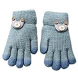 XXYsm Baby Handschuhe Winter Kleinkind Mädchen Jungen Karikatur gestrickte Gloves Grün