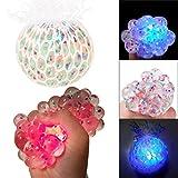 Cooljun Balle Anti Stress Raisin,Balle LED Lumineuse Squishy Jouet de Décompression