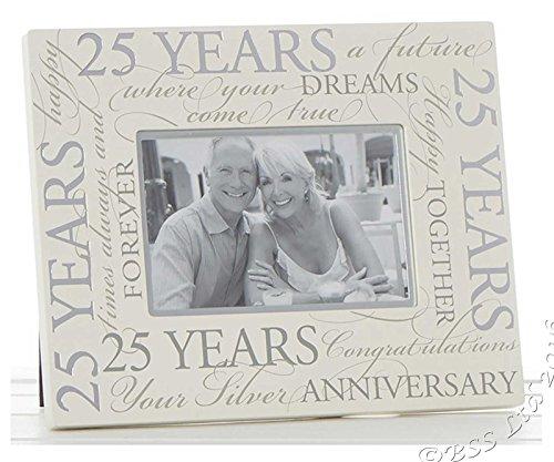 (Silber Hochzeit 25. Jahrestag Script 15,2x 10,2cm Bilderrahmen)