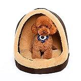 MIAO Katzen- / Hundebett Haustier-Höhle U. Haus-Haustier-Zwinger Four Seasons Universal-Nest-Zwinger-Haustier-Nest-Yurt-Hundehütten-Zelt-Haus,Brownm