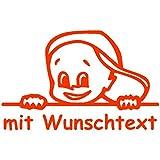 Babyaufkleber mit Name/Wunschtext - Motiv 677 (16 cm) - 20 Farben und 11 Schriftarten wählbar