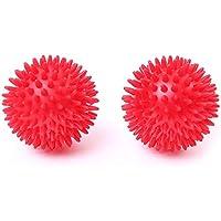 66Fit - Bola masajeadora con pinchos (dura, 2 unidades, 8 cm)