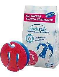 Sockstar Socken Clips Sockenklammern in zwei verschiedenen Farben waschmaschinenfest