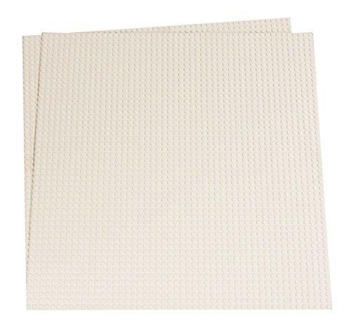 Strictly briks set da 2 basi per costruzioni - compatibili con tutte le principali marche - 40 x 33,6 cm - bianco