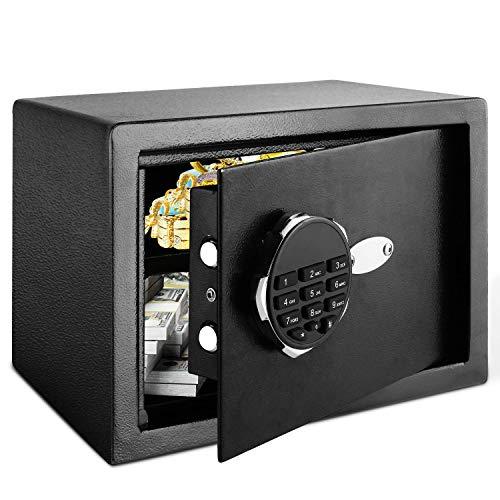 Himimi Safe Tresor Elektronischer Safe Schlüsseltresor Wandsafe Möbeltresor Elektronisches Zahlenschloss 35x25x25cm