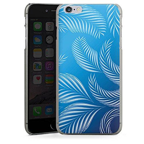 Apple iPhone X Silikon Hülle Case Schutzhülle Palmen Blätter Blau Hard Case anthrazit-klar