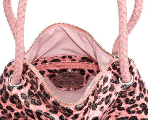Poodlebags Funkyline - natural wild - Tuesday - 3FU0212TUESM, Damen Schultertaschen, 40 x 12 x 34 cm (B x H x T) Rosa (Mauve)