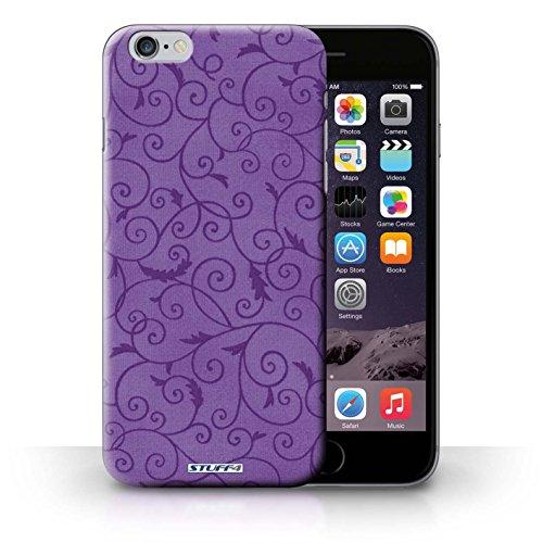 Kobalt® Imprimé Etui / Coque pour iPhone 6+/Plus 5.5 / Turquoise conception / Série Motif de la vigne Pourpre
