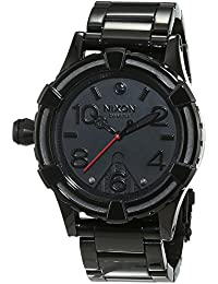 Nixon hombre-reloj 38-20 pagre Negro analógico de cuarzo de acero inoxidable A410SW2244 -00