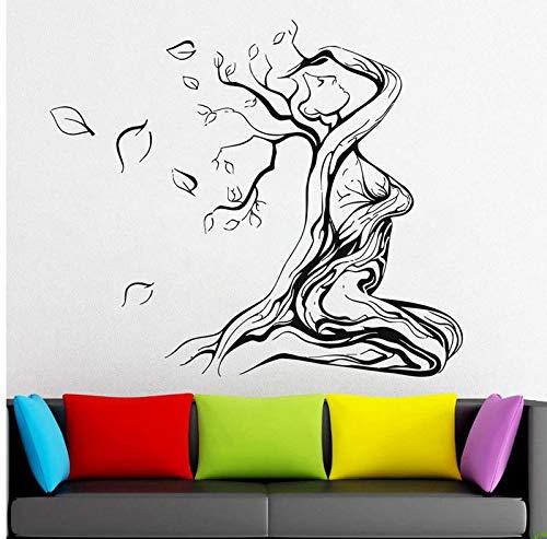 Wiwhy Gebunden Frau Auf Einem Sterbenden Baum Des Lebens Wall Decal Stickefomagical Minds, Mystic Collection Wand Geschenkideen Sticker Fantasy 66X57Cm