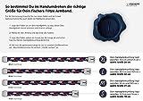 """FISCHERS FRITZE® Segeltau Armband """"MAKRELE 2.0"""" Marineblau Gedreht - 3"""