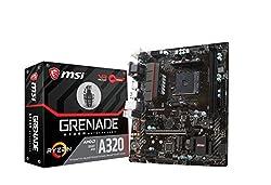 MSI Gaming AMD Ryzen A320 DDR4 VR Ready HDMI USB 3 Micro-ATX Motherboard (A320M Grenade)