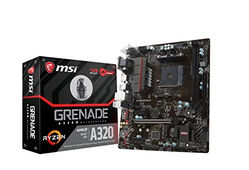 MSI A320M Grenade - Scheda madre (AMD AM4 Chipset A320M, DDR4 Boost, Gaming LAN, Audio Boost, Military Class V)