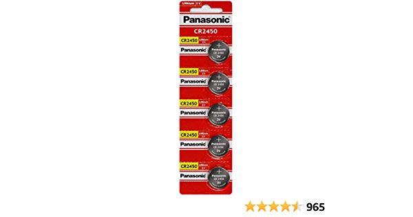 Panasonic Cr2450 Lithium Knopfzelle Elektronik