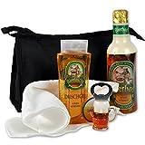 Geschenkidee Geschenke für Männer - Geburtstagsgeschenke für Männer Set FEIERABEND mit Bierduschgel und Bierschaumbad sowie Waschtasche und Handtuch als Ostergeschenke Set handverpackt