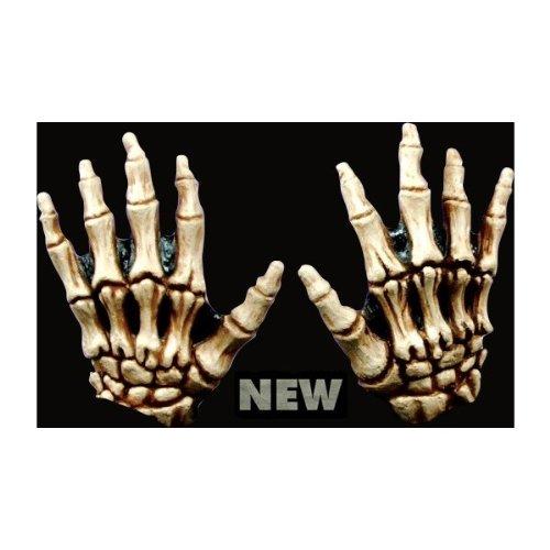 Generique - gelbe Skelett Handschuhe Halloween für Erwachsene