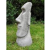 Garden Ornaments von onefold EH2Osterinsel Moai einzigen Kopf Stein Garten Ornament, grau, 17x 21x 50cm
