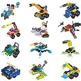 BOROK 12 Stück Mini Figuren Set Spielzeugauto Armee Soldaten SWAT Team Minifiguren Bausteine