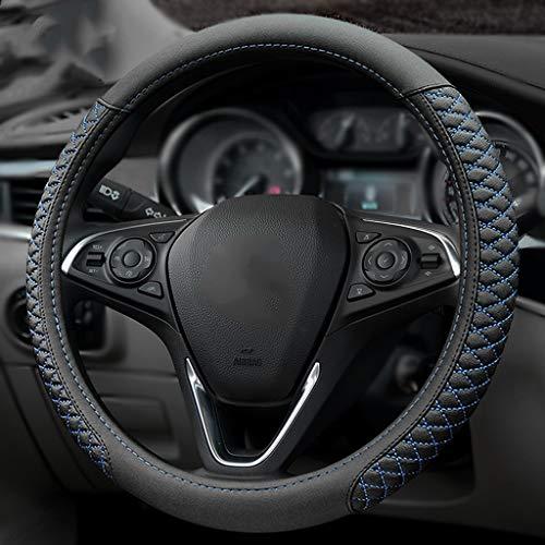 /Xawg03b Xtremeauto compl/ète Housse de volant de voiture en cuir Gants avec coutures Bleu/