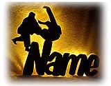 Die besten unbekannt Geschenk für Brüder - 3D Led Lampe Wand Deko Karate mit Name Bewertungen