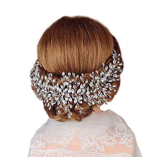 TOPQUEEN Accessoires braut Gold Perle Strass Braut Haarkamm Hochzeit Haarschmuck Tiara Diadem, Schmetterlinge (HP237-3-12) (Tiara-haar-zubehör)