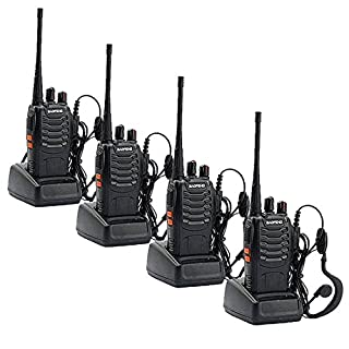 Walkie Talkies, Sunreal BF-888S Rechargeable Long Range Two Way Radio UHF 400-470 MHz for Survival Biking and Hiking(pack of 4)