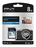PNY Performance SDHC Flash Memory Card 8GB Class 10