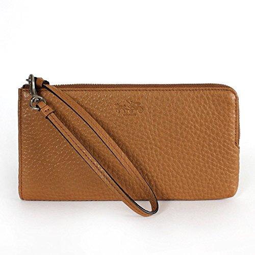 Coach Bleecker Leather Zippy Wallet Wristlet (Organizer Zippy)
