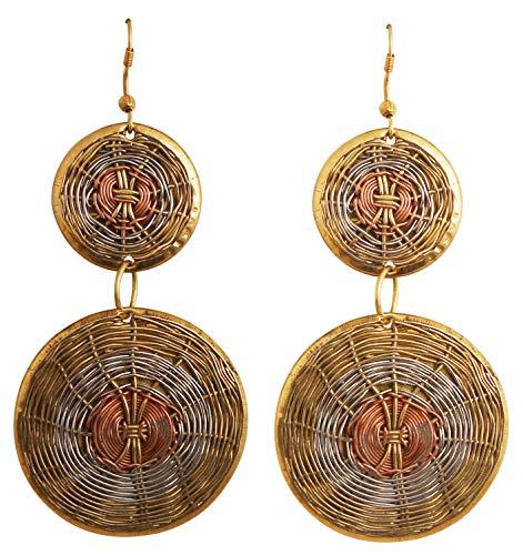 Touchstone desiderio finemente lavorato a mano filo concentrico grazioso bigiotteria orecchini gioielli rame argento antico s per donna ottone