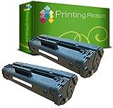 Printing Pleasure 2 Toner Kompatibel zu C 4092 A / 92 A für HP Laserjet 1100 1100A 1100A SE 1100A XI 1100 SE 1100 XI 3200 3200 M 3200SE 3200XI - Schwarz, Hohe Kapazität