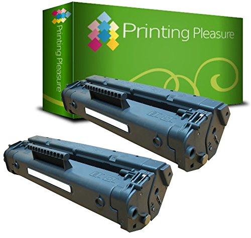 2er Set C4092A / 92A Premium Toner Schwarz kompatibel für HP Laserjet 1100, 1100A, 1100A SE, 1100A XI, 1100SE, 1100XI, 3200, 3200M, 3200 SE, 3200 - Drucker 92 Hp Patrone