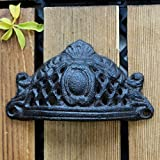 HZH Schranktür halbrunde Hohle Griff Garderobe Retro Gusseisen Schränke American Black Iron Farbe Türgriff Schränke Nordic Iron Small Griff